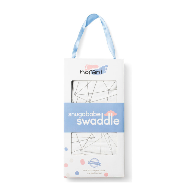 Snugababe Swaddle, Black and White Geometric