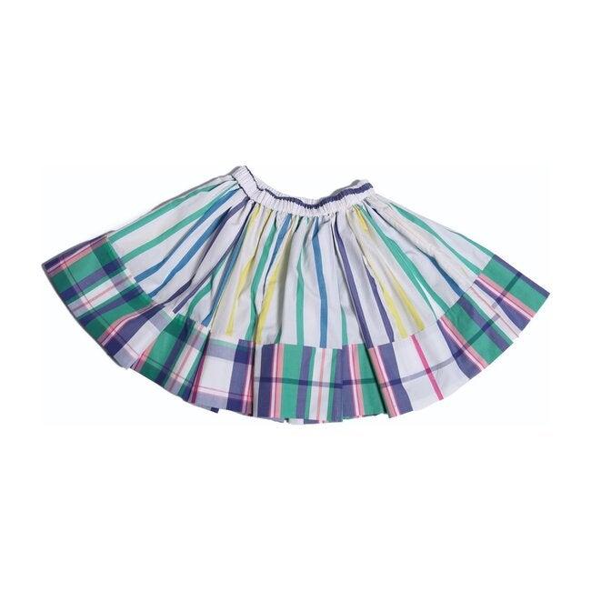 Patchwork Twirl Skirt, Mint Mix