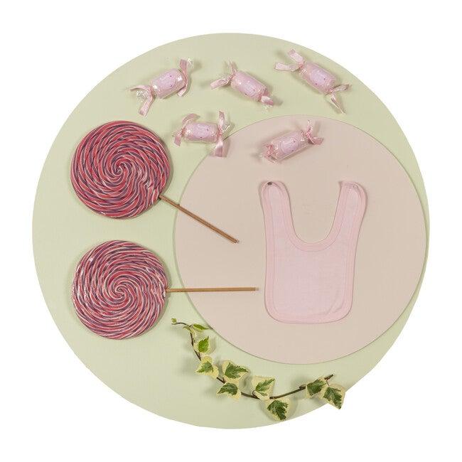 Patisserie Bonbon Candy Bibs (Set of 2), Pink