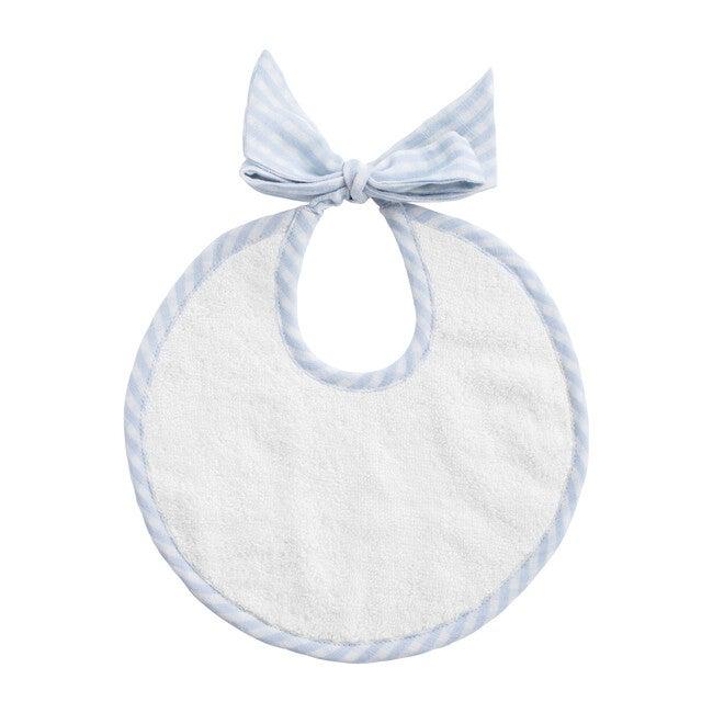 Newborn Bib, Pale Blue Gingham