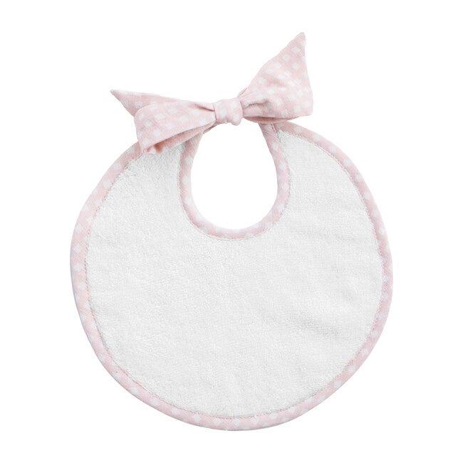 Newborn Bib, Dusty Pink Gingham