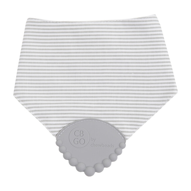 Drool Bib, Grey Stripe