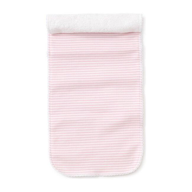 Simple Stripe Burp Cloth, Pink