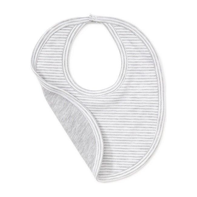 Essentials Striped Bib, Grey