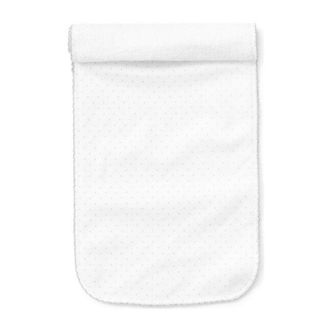 New Dots Burp Cloth, White/Grey