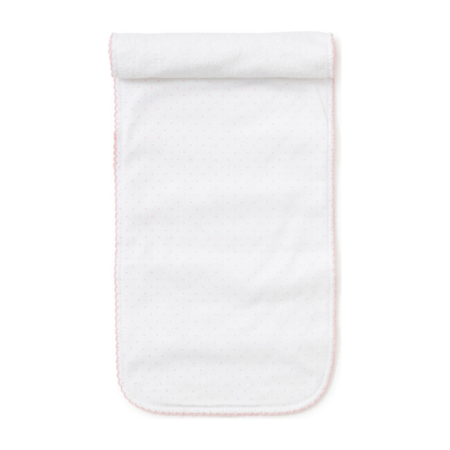 New Dots Burp Cloth, White/Pink