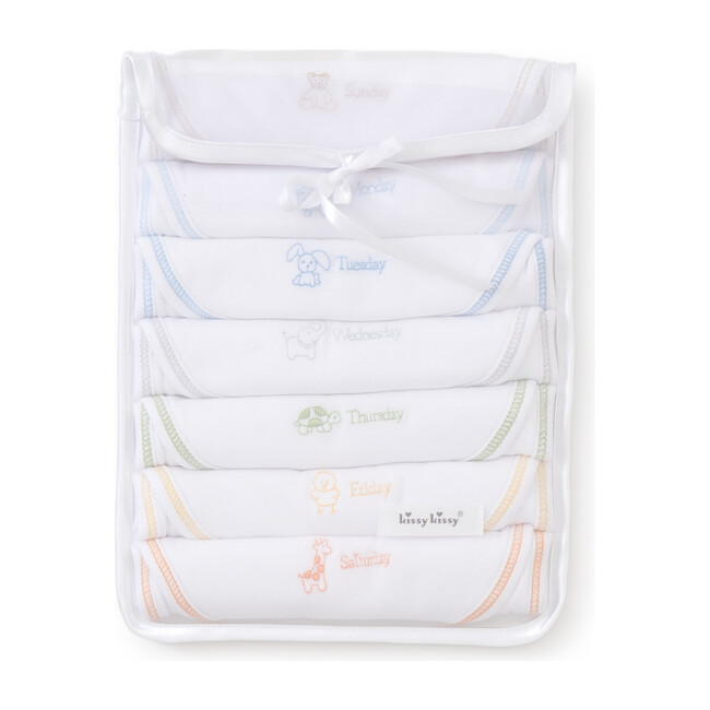 Boys Days of the Week Bibs Set
