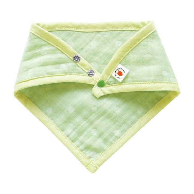 100% GOTS-Certified Organic Cotton Bandana Bib, Lime