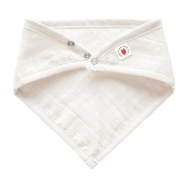 100% GOTS-Certified Organic Cotton Bandana Bib, Pearl
