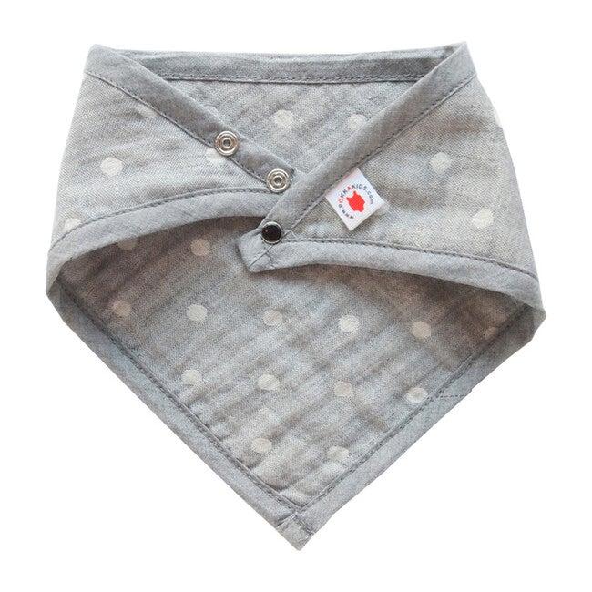 100% GOTS-Certified Organic Cotton Bandana Bib, Charcoal