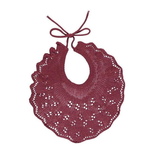 Airike Bib, Burgundy Knit