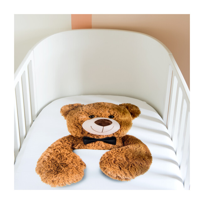 *Exclusive* Teddy Crib Sheet, White