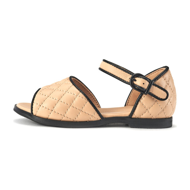 Irene Quilted Sandal, Beige
