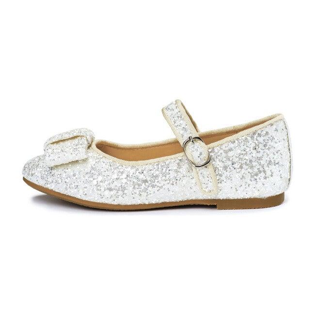 Ellen Mary Janes, White Glitter
