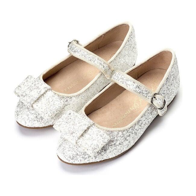 Ellen Glitter Mary Janes, White