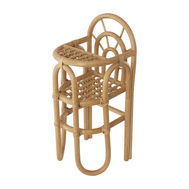 Rattan Rainbow Doll Chair, Natural