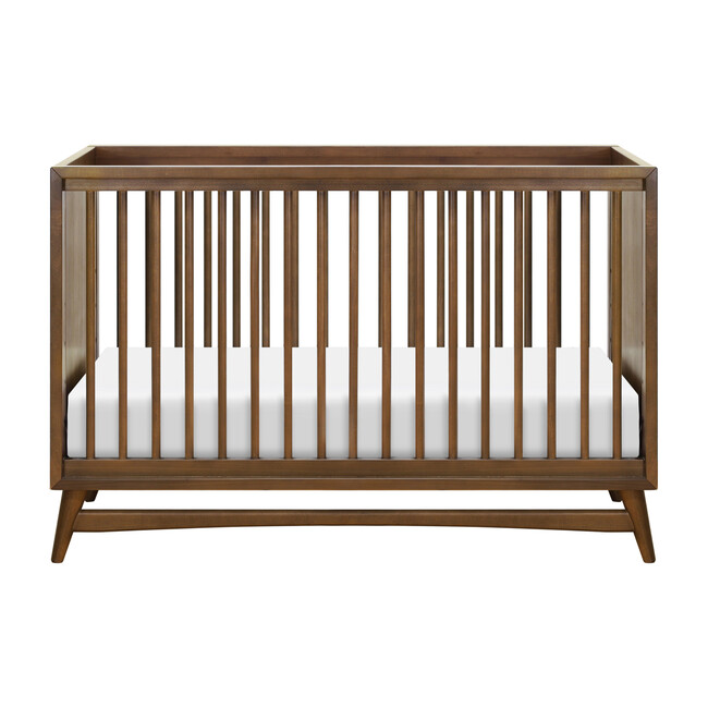 Peggy 3-in-1 Convertible Crib with Toddler Bed Conversion Kit, Natural Walnut
