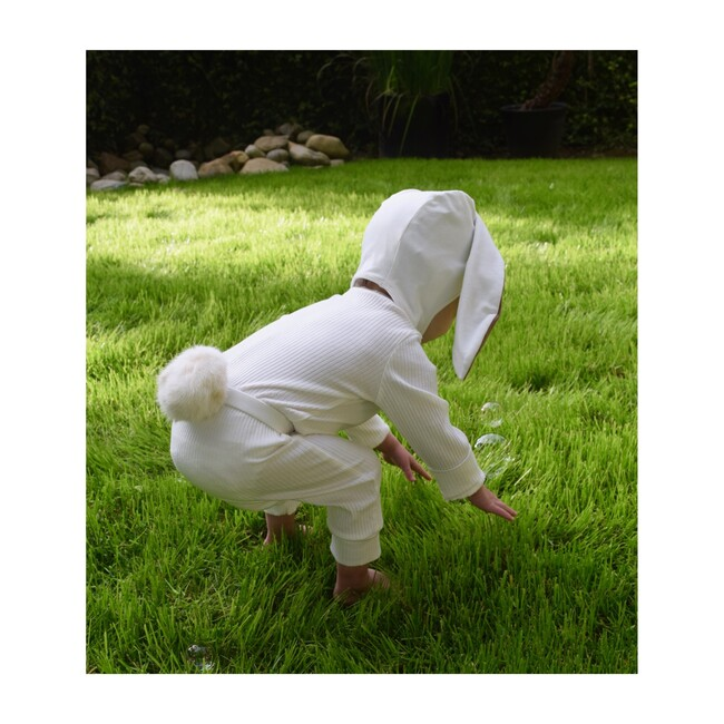 Organic Bunny Bonnet and Tail, Ivory