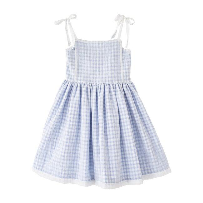 Olympia Dress, Blue Vichy