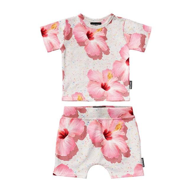 *Exclusive* Pink Hawaii Baby T-Shirt & Short Set