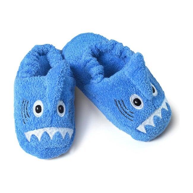 Shark Slippers, Blue