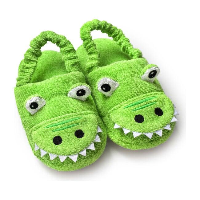 Alligator Slippers, Green