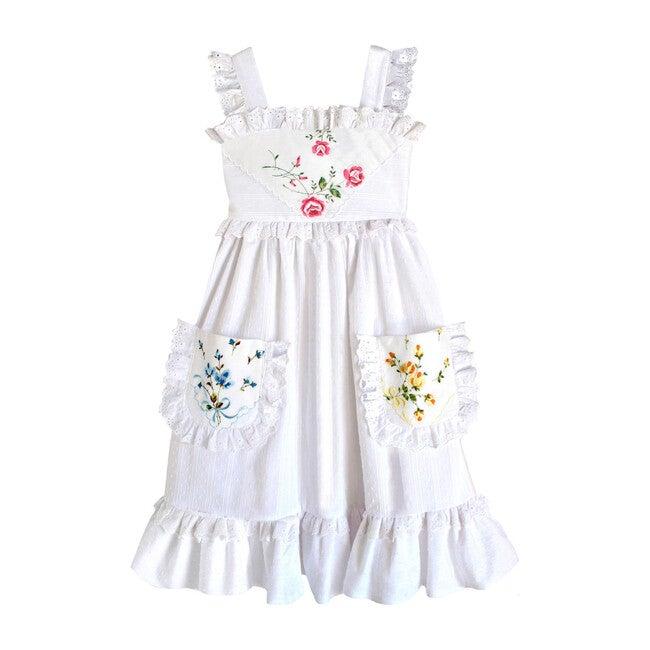 10y Heirloom Handkerchief Dress, Ribbons & Roses