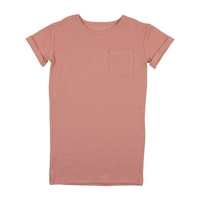 Ribbed T Dress, Pink