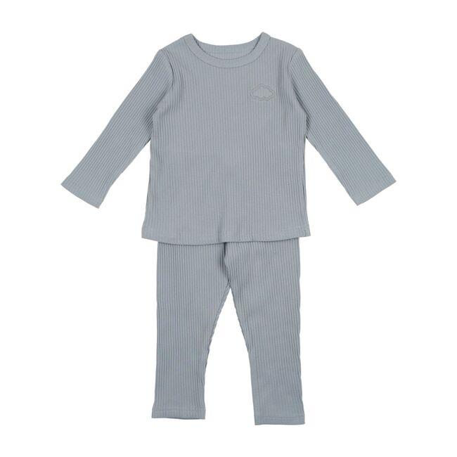 Ribbed Long Sleeve Set, Blue
