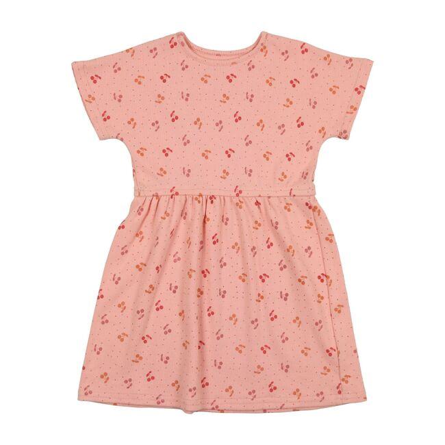 Cherry Print Dress, Blush