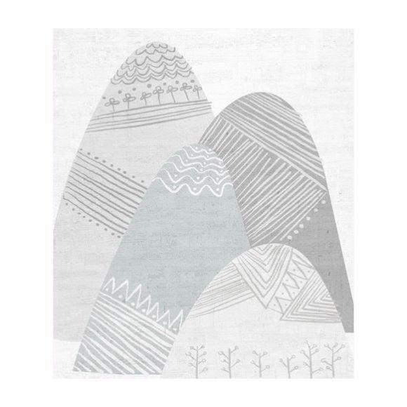 Scandinavian Winter Hills - Art - 1
