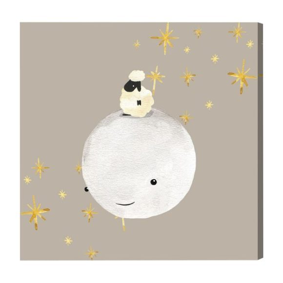 Sheep And Moon Best Friends