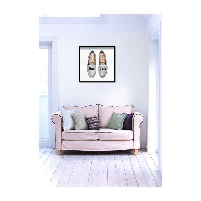 New York Slippers Print, Framed