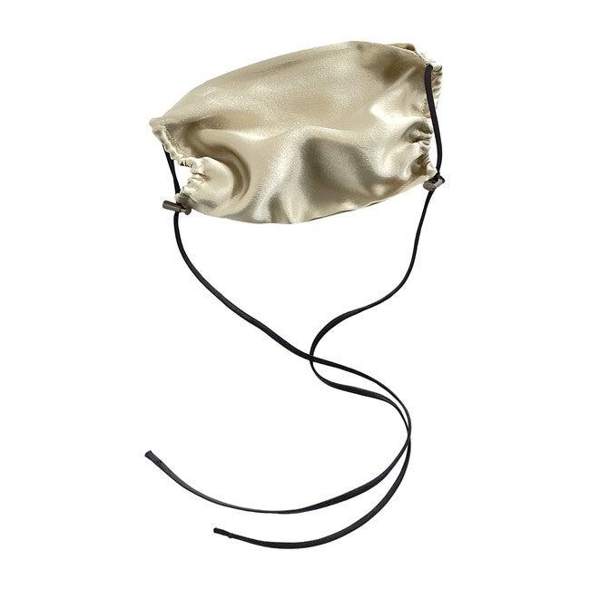 Womens  Silk Face Mask, Bone - Face Masks - 1