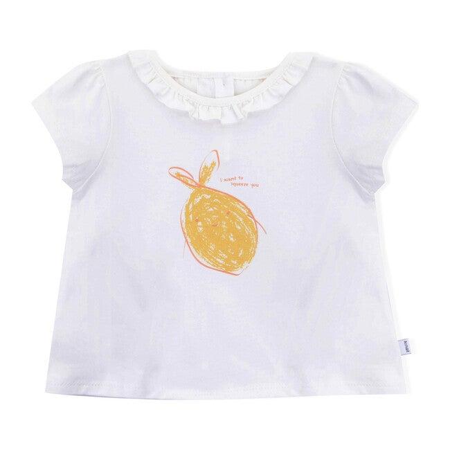 Lemon Sqeeze Short Sleeve T-Shirt, White
