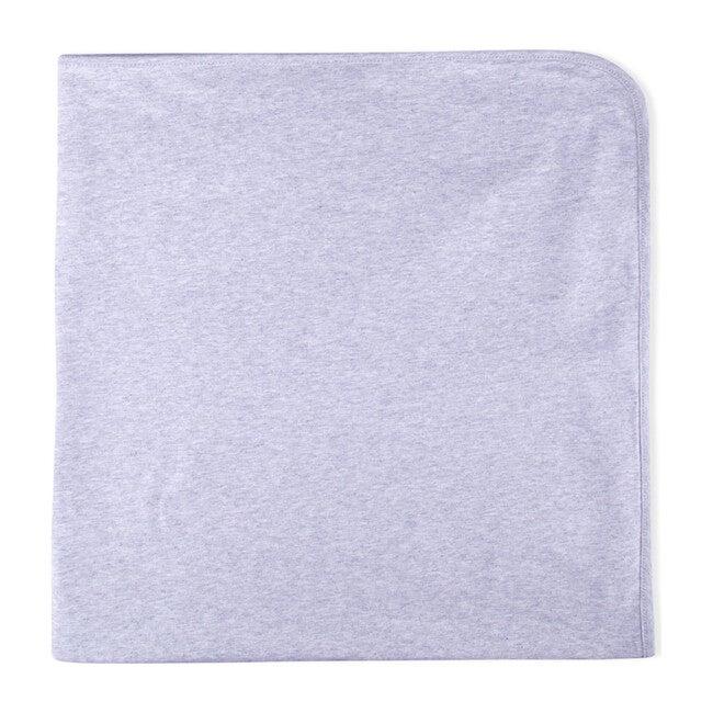 Lacy Organic Cotton Blanket, Light Grey