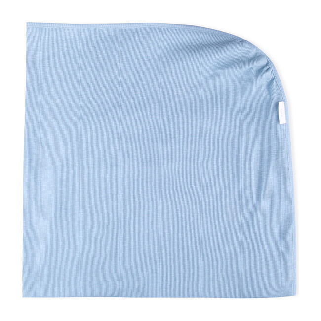 Lora Organic Cotton Blanket, Blue