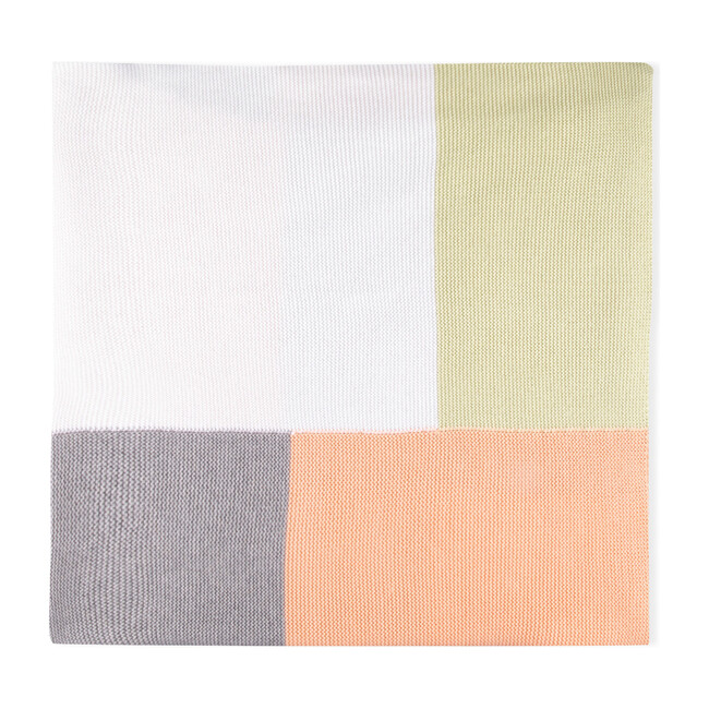 Patchwork Tricot Blanket, Multi