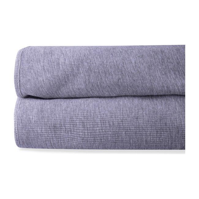 Lora Organic Cotton Blanket, Dark Grey