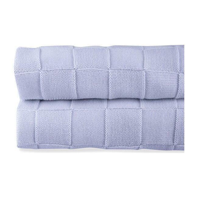 Joy Tricot Blanket, Blue