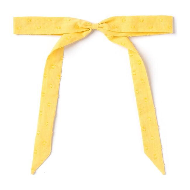 Ribbon Bow, Mustard Swiss Dot