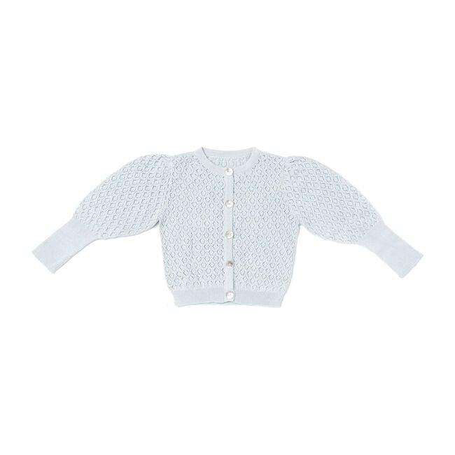 Knit Cardigan, Light Blue