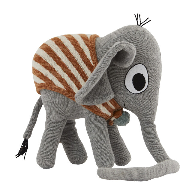 Henry the Elephant Stuffed Animal, Grey