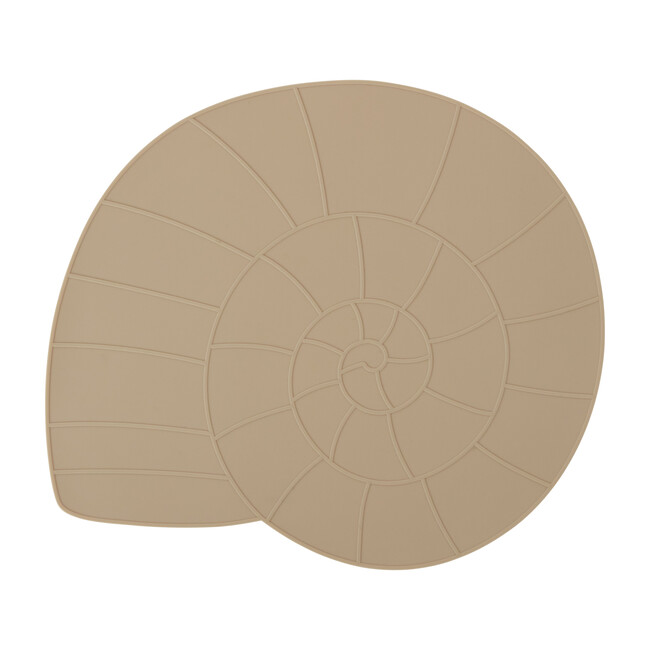Nautilus Shell Silicone Placemat, Camel
