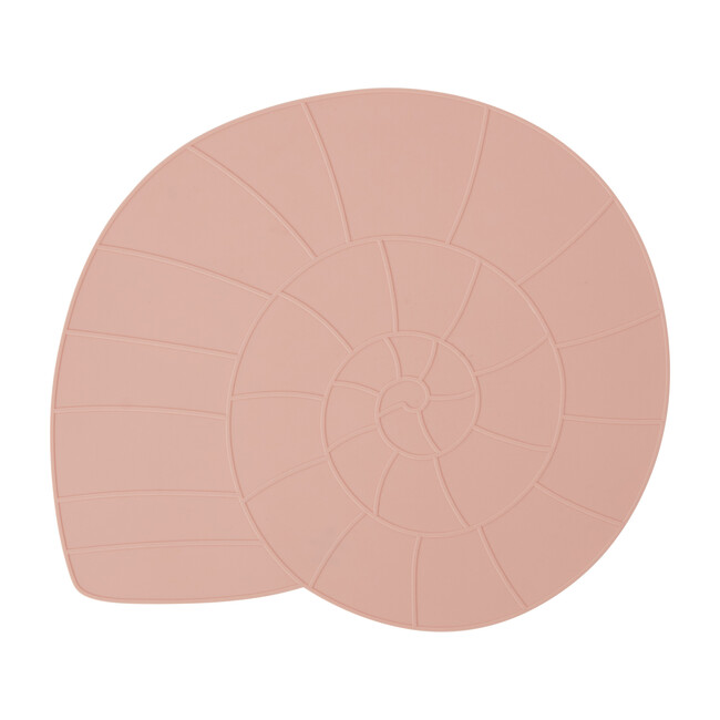 Nautilus Shell Silicone Placemat, Coral