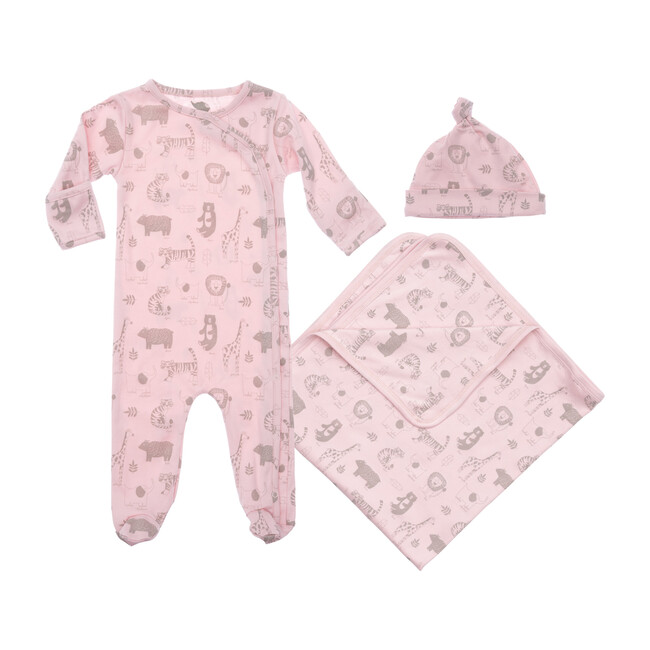 Baby Animals Layette Gift Set, Pink