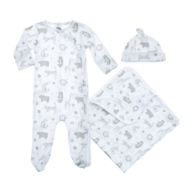 Baby Animals Layette Gift Set, White