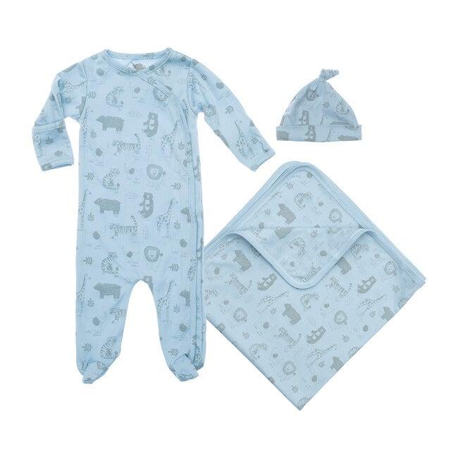 Baby Animals Layette Gift Set, Blue