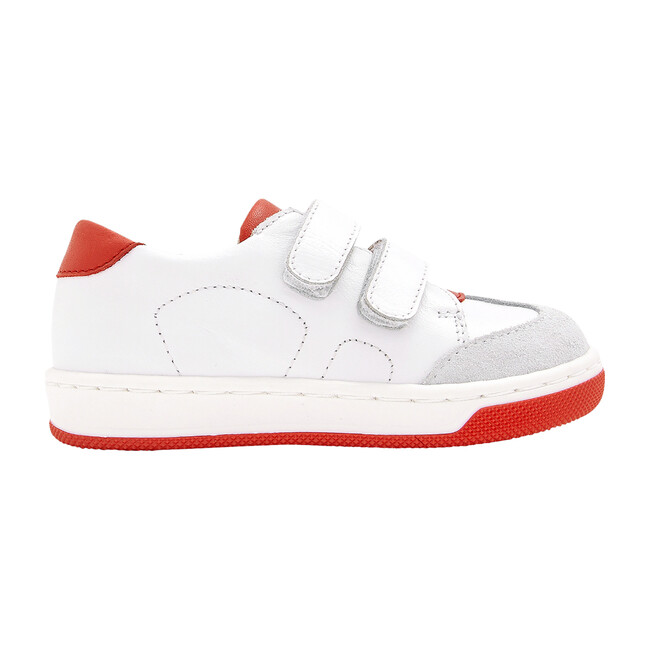Baby Sneakers, White & Red