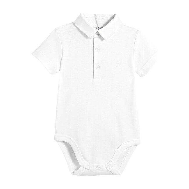 Toddler Oxford Collar Bodysuit, White